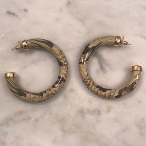 Kenneth Jay lane retro hoop earrings.